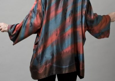 Sueded Silk Charmeuse Tunic Back A