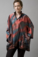 Sueded Silk Charmeuse Tunic A