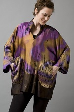 Sueded Silk Charmeuse Tunic Back